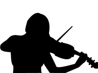 single violin player