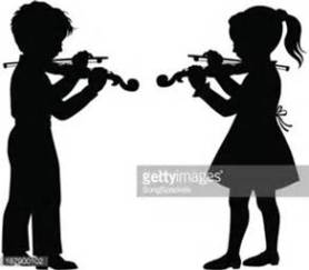 two kids playing the violin